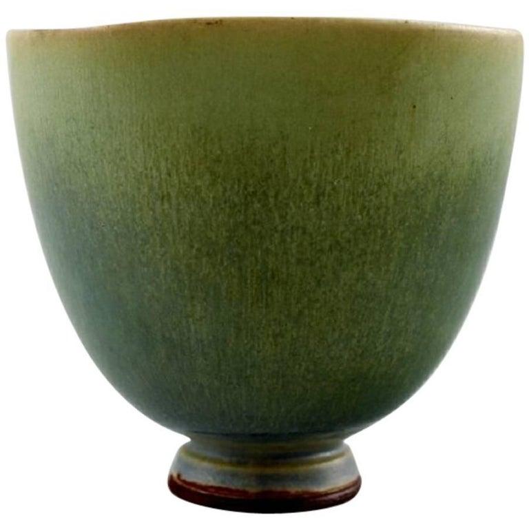 Berndt Friberg Studio Ceramic Bowl, Modern Swedish Design, Unique, Handmade