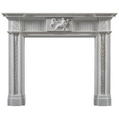 Late 18th Century Statuary Marble Fireplace in the Neoclassical Style