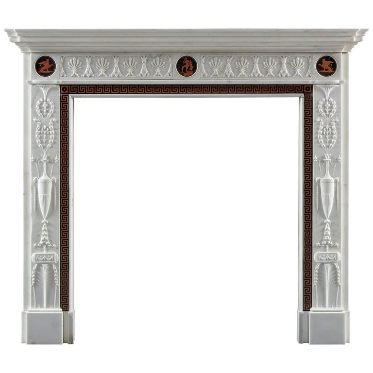 Superb and Rare George III, Neoclassical Fireplace after a Design by Adam