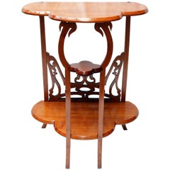 Art Nouveau Small Console Side Mahogany Table
