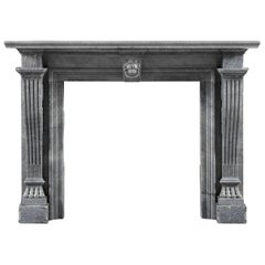 Early 19th Century Chimneypiece of Italian Bardiglio Imperiale Marble
