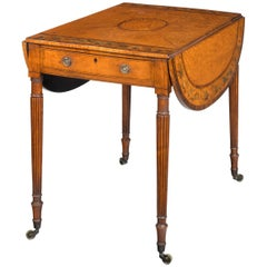 Small George III Period Satinwood Pembroke Table