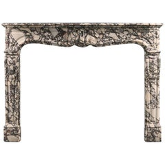 Pretty French, Mid-18th Century, Louis XV Rococo Style Fireplace