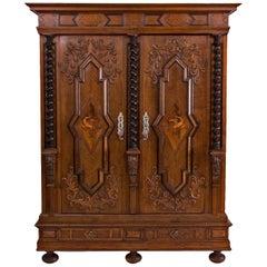 Swabian Baroque Facade Cabinet from 1700