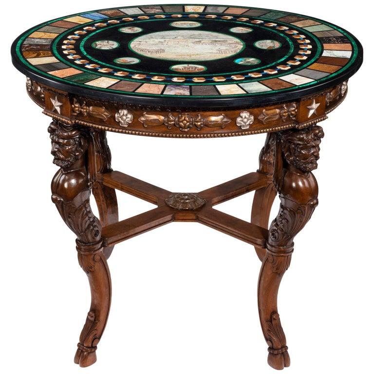 Italian Micro Mosaic and Specimen Marble-Top Centre Table