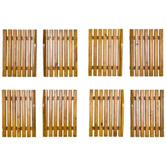Set of Four Pairs of Charlotte Perriand Slat Doors, circa 1950, France