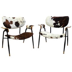 Pair of Italian Easy Chairs by Gastone Rinaldi for Rima, 1950s