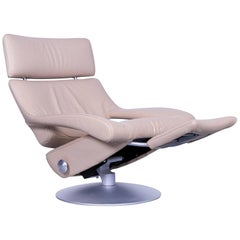 De Sede DS 255 Leather Armchair Beige Recliner
