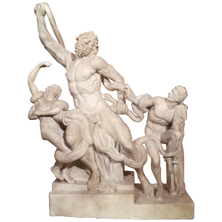 19th Century, Sculpture Plaster Reproduction of the Greek Antique Laocoon Group