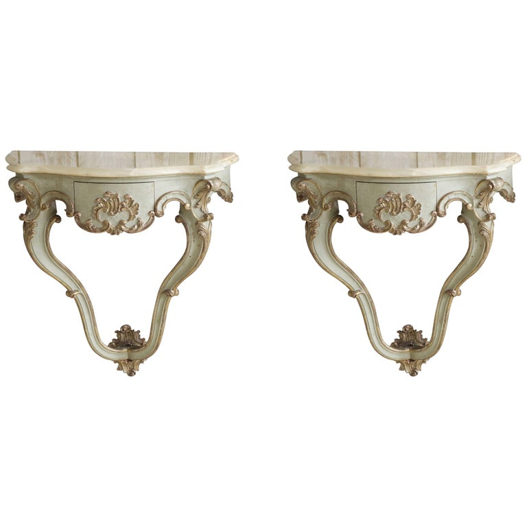 Pair of Bedside Tables /Wall Brackets