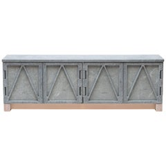 Relief Stone Credenza in Soapstone by Fort Standard, in Stock