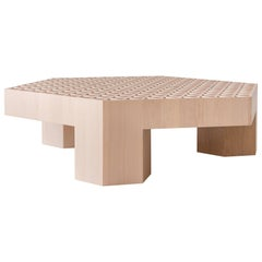 Limited Edition Assemblage Wood Coffee Table in Mapleby Fort Standard, in Stock