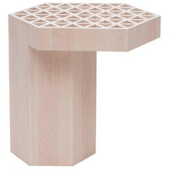 Limited Edition Assemblage Wood Side Table in Maple by Fort Standard, in Stock