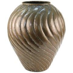 Egidio Casagrande Italian Modernist Monumental Brass Urn