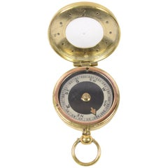 Brass Nautical Travel Survey Compass Made in the Early 1900s