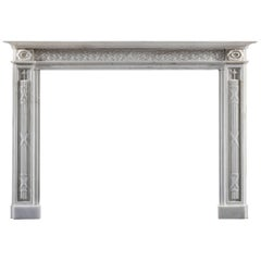 Late 18th Century Italian Statuary Marble Fireplace
