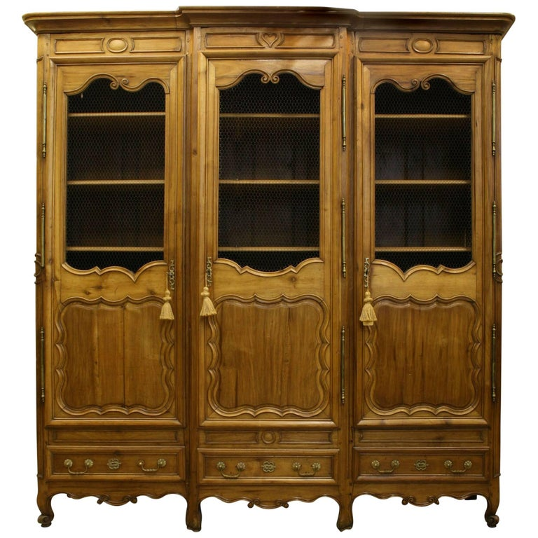 French Provincial '18th-19th Century' Walnut Armoire Cabinet