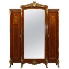 French Louis XVI Style Satinwood Armoire