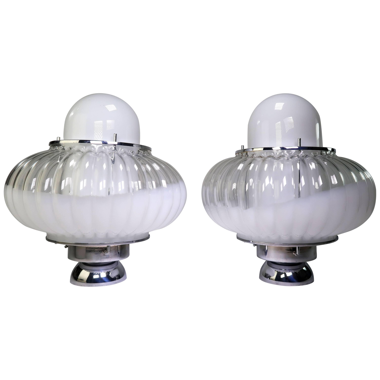 Mazzega Murano Table Lamps