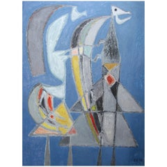 Untitled 'Figures', Clifford Ellis, Oil on Board, 1952