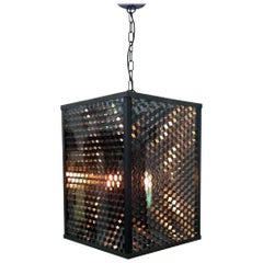"Pendant Lantern ""Api"" of Honeycomb Patterned Panels, Made in Italy"