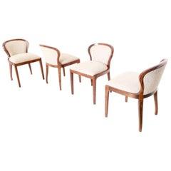 "Set of Four Chairs Mod ""Stradivarius"" by Lorenzo Forges Davanzati for Elam, 1961"
