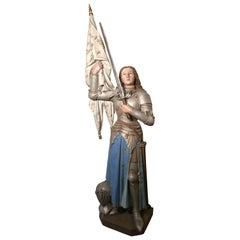Lifesize Sculpture, Joan of Arc from a French Cathedral