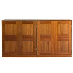 Pair of Mogens Koch Cabinets in Mahogany for Rud Rasmussen
