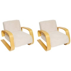 Pair of Tank Lounge Chairs by Alvar Aalto