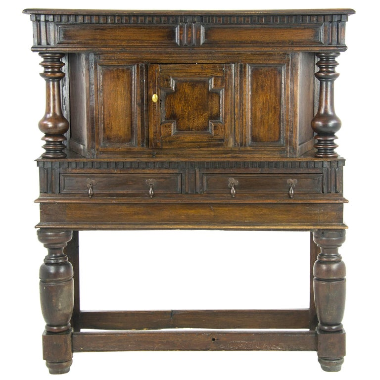 Antique Furniture Sideboard Georgian Court Cupboard Scotland