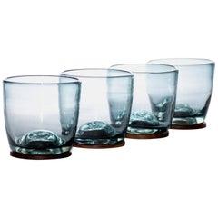 """""""Basico"""" Mexican contemporany design. Glasses set. Blown glass"""