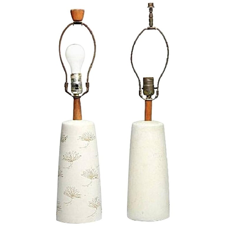 Pair of Mid-century Martz Marshall Lamps