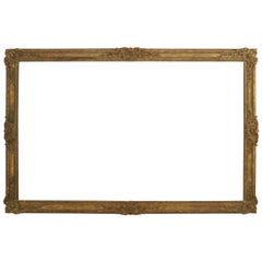 Louis XV Style '19th Century' Large Carved and Gilt Wood Wall Frame
