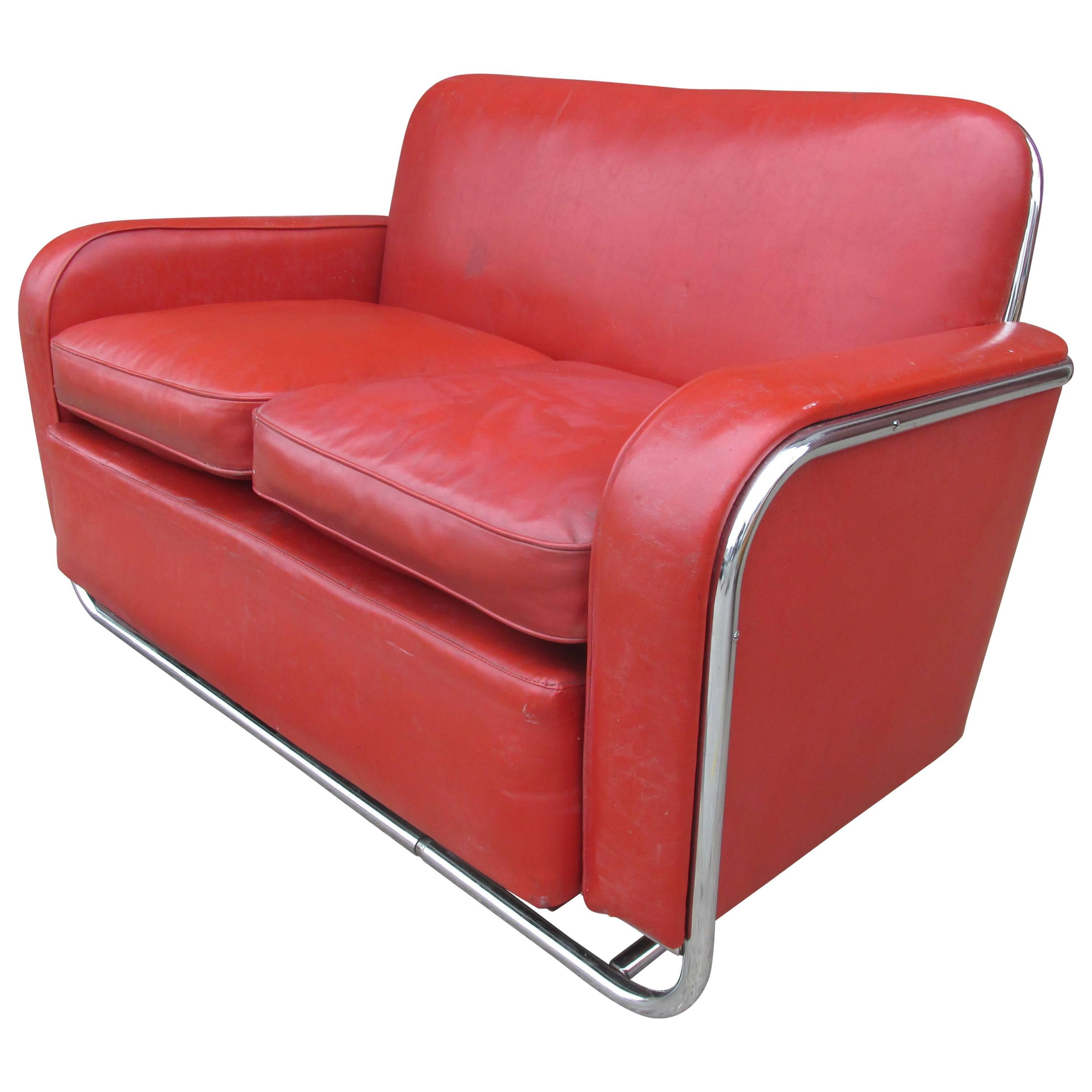 Wolfgang Hoffman For Howell Furniture Loveseat For Sale