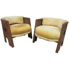 "Adrian Pearsall for Craft Associates ""Strictly Spanish"" Pair of Octagonal Chairs"