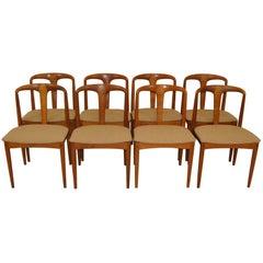 "Eight Teak Danish Dining Chairs ""Juliane"" Johannes Andersen Uldum Mobelfabrik"