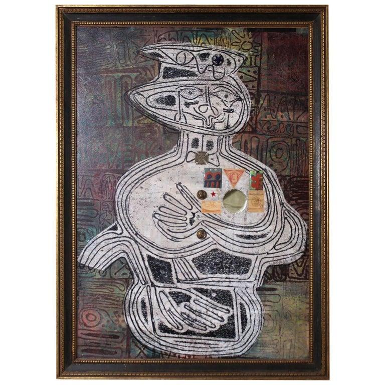 1963 Joe Nyiri Abstract Monoprint For Sale