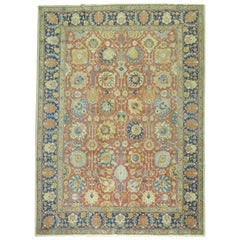 Antique Persian Tabriz Room Size Rug