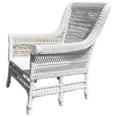 Antique Victorian Wicker Six-Legged Chair
