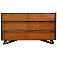 Mid-Century Modern Robinson 6 Drawer Dresser Credenza Saarinen Era, 1950s