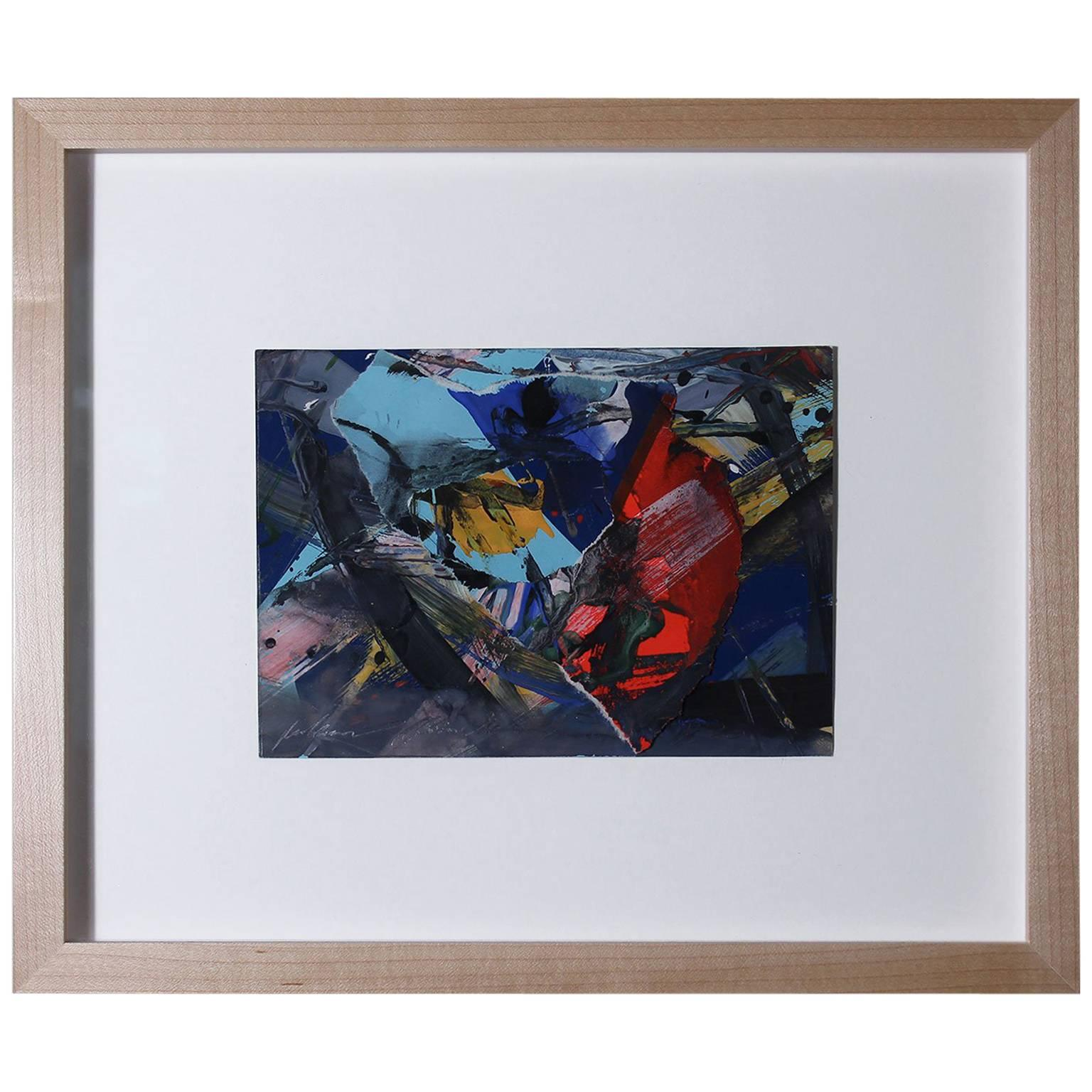 1980 Richard Allen Morris Abstract Painting Collage