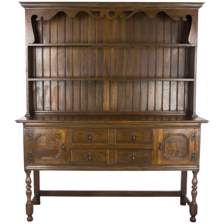 Etonnant Antique Welsh Dresser, Oak Sideboard, Scotland 1850, Antique Furniture For  Sale