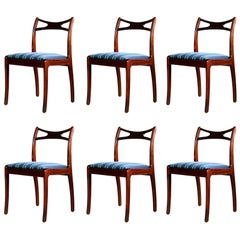 Danish Midcentury Set of Six Mahogany Dining Chairs
