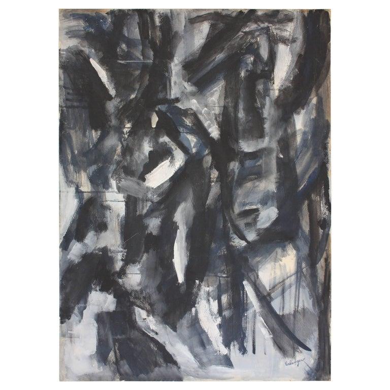 Abstract 'Aspen' Gouache on Board by Elizabeth Nachman Erlanger