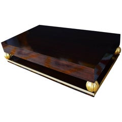 Grand Gilt Walnut Coffee Table
