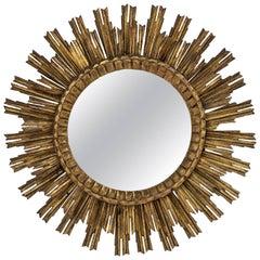 French Gilt Starburst or Sunburst Mirror (Diameter 29 1/2)