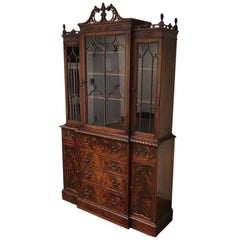 Antique Mahogany Breakfront Cabinet