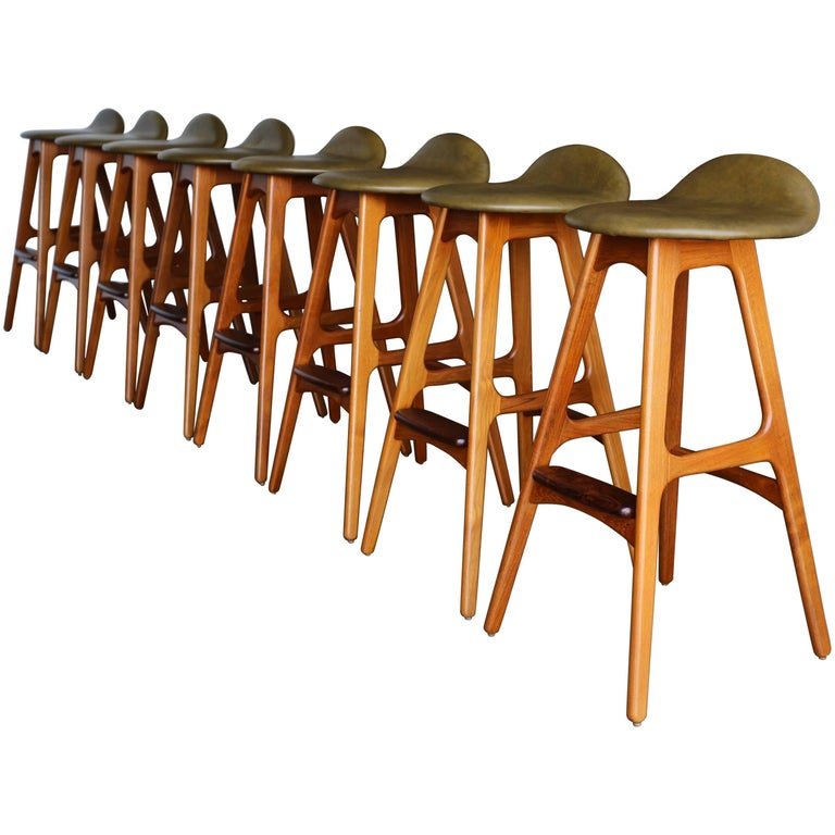 Set of Eight Barstools by Erik Buch