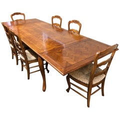 Fremarc Designs Chateau Country Dining Table with Six Chairs