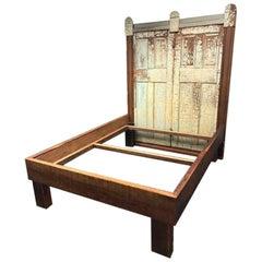Custom Queen Size Reclaimed Wood Bed